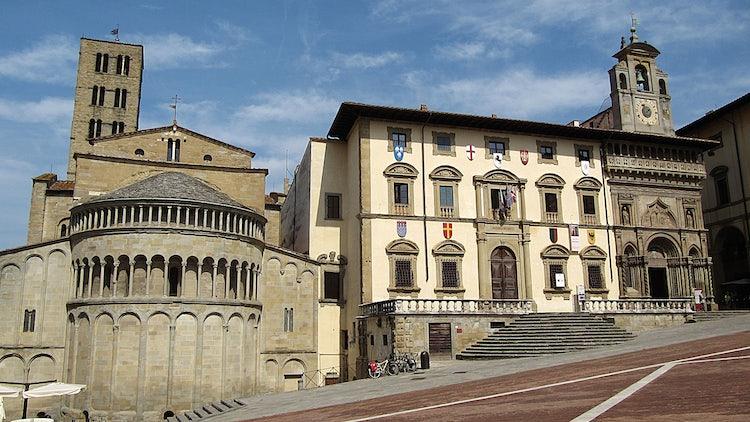 The town square in Arezzo