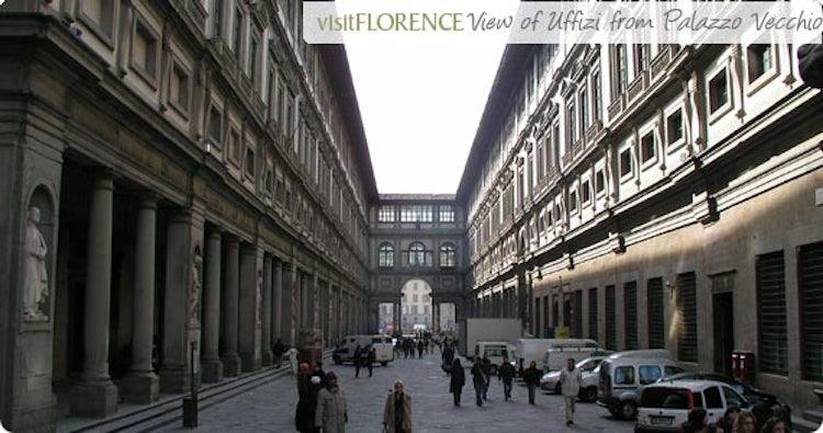View of Uffizi from Palazzo Vecchio