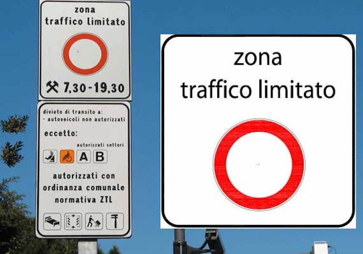 Italian Road Sign for ZTL - or no parking zones