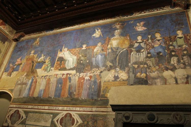 Sala Del Consiglio Dei Nove Siena.Museo Civico Di Siena Stupdendi Affreschi Di Buono E