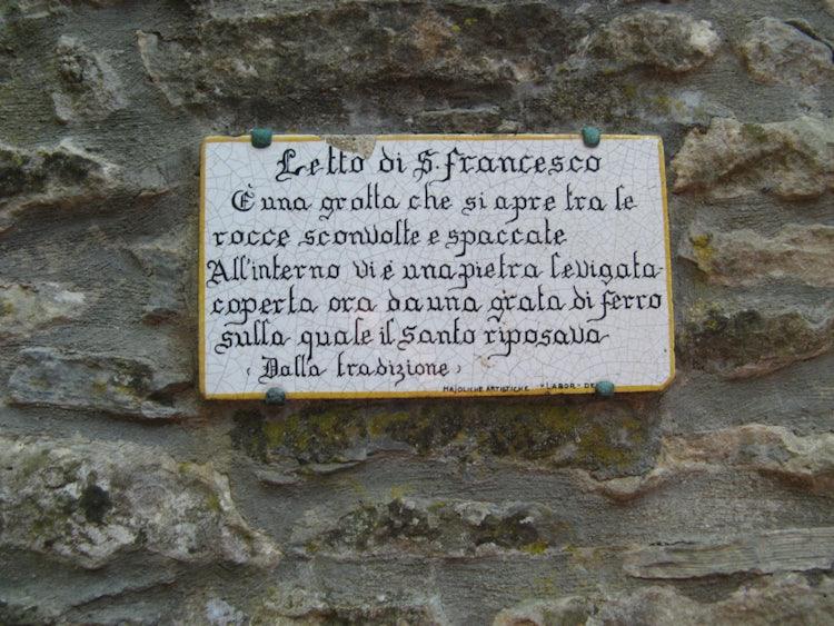 St. Francis's bed at La Verna