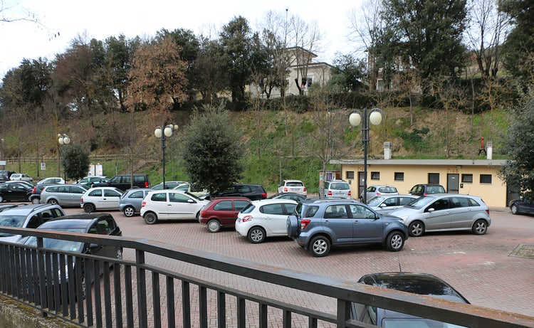 via Rosa Libri Parking lot at Greve in Chianti