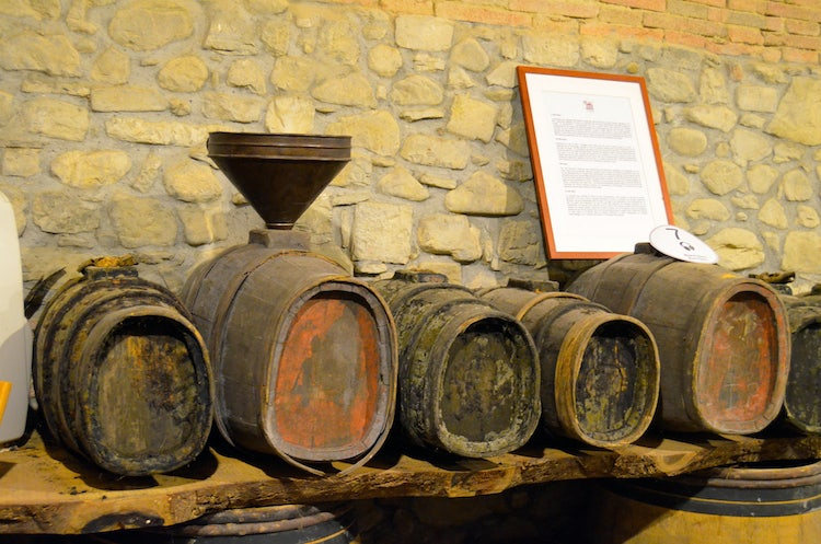 Wine barrels at Greve in Chianti Wine Museum
