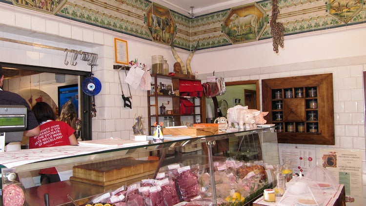 Butcher shop in Panzano in Chianti