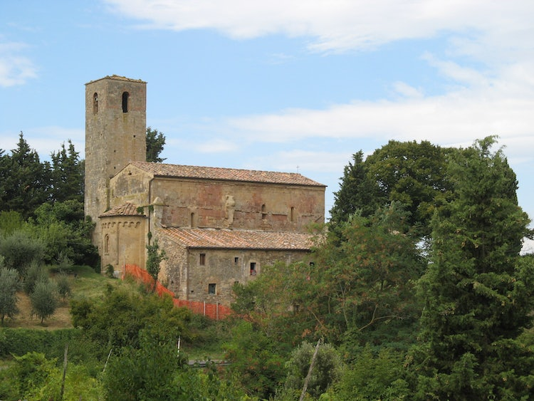 The Church of Cedda near Poggibonsi and Castellina in Chianti