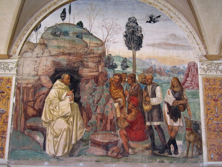 Artwork from the Abbey in the Creti Senesi