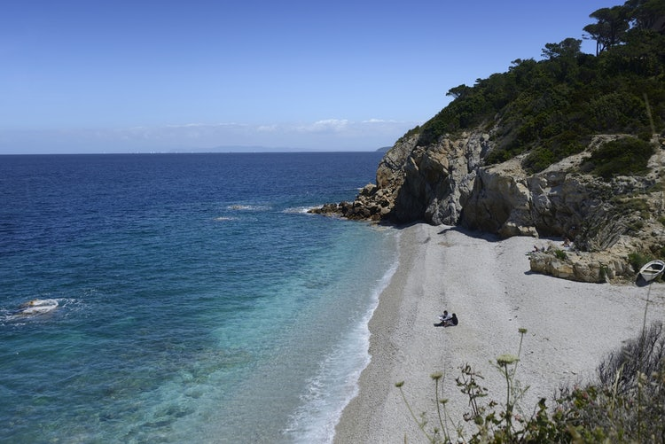 Beach La Sorgente at the Island Elba, Tuscany
