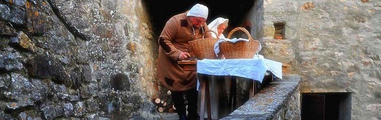 A classical living nativity scene in Casentino