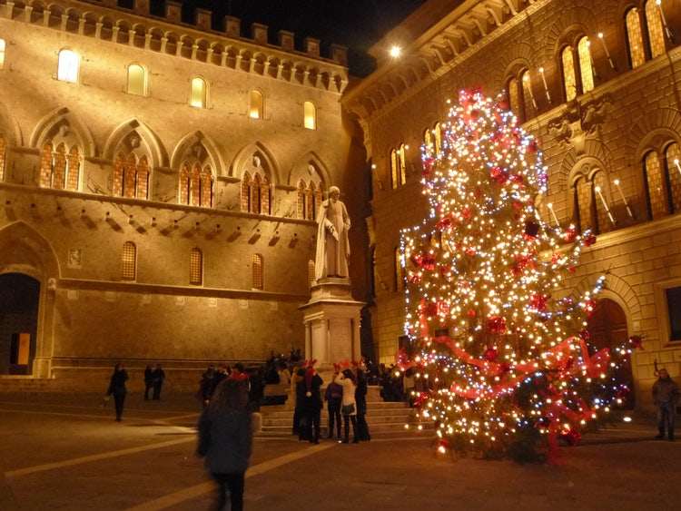 Siena Christmas celebration in Tuscany