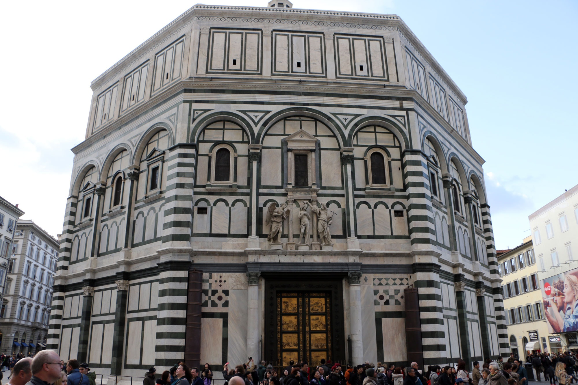 The original doors are now on display in the Museum behind the Duomo and copies are on display at the Baptistery. & Florence Baptistery:Visit Florence and the Baptistery of St.John Pezcame.Com