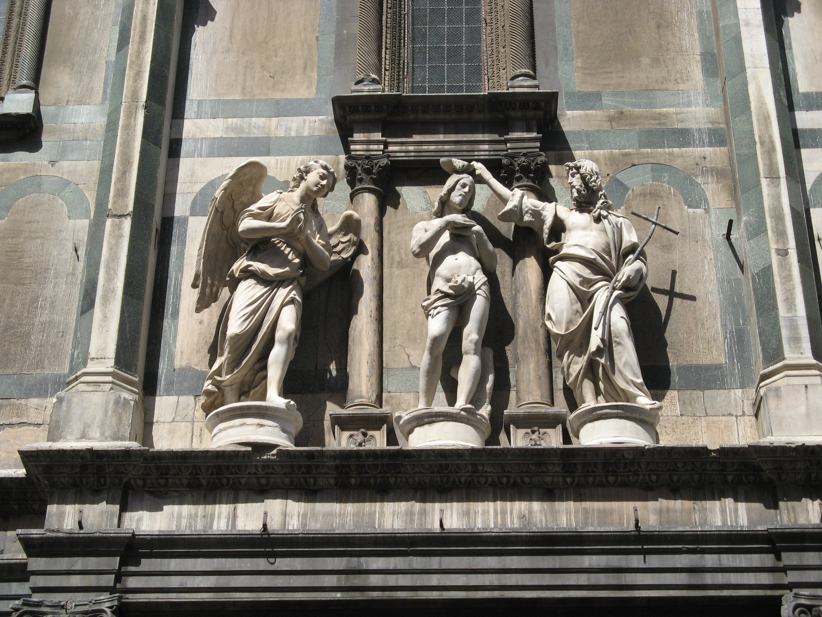 Above the doors stood three different groups of statues. Over the southern doors the famous bronzes depicting the Beheading of St. John by Vincenzo Danti ... & Florence Baptistery:Visit Florence and the Baptistery of St.John Pezcame.Com