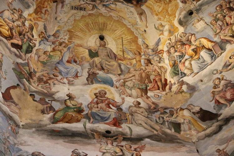 Frescos inside Florence's dome