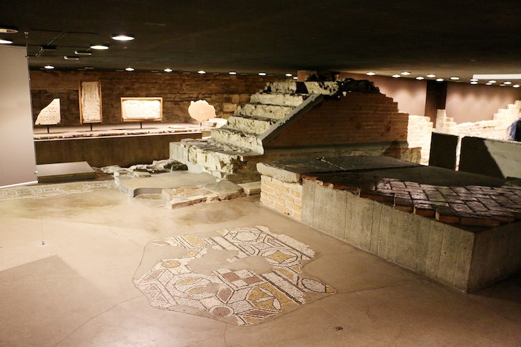 The crypt of the Duomo with the ancient walls