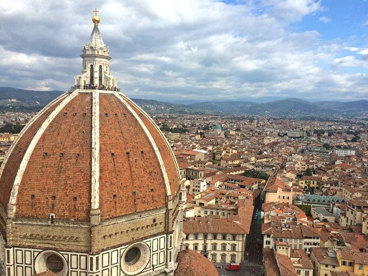 Vista dalla cima del Campanile di Giotto