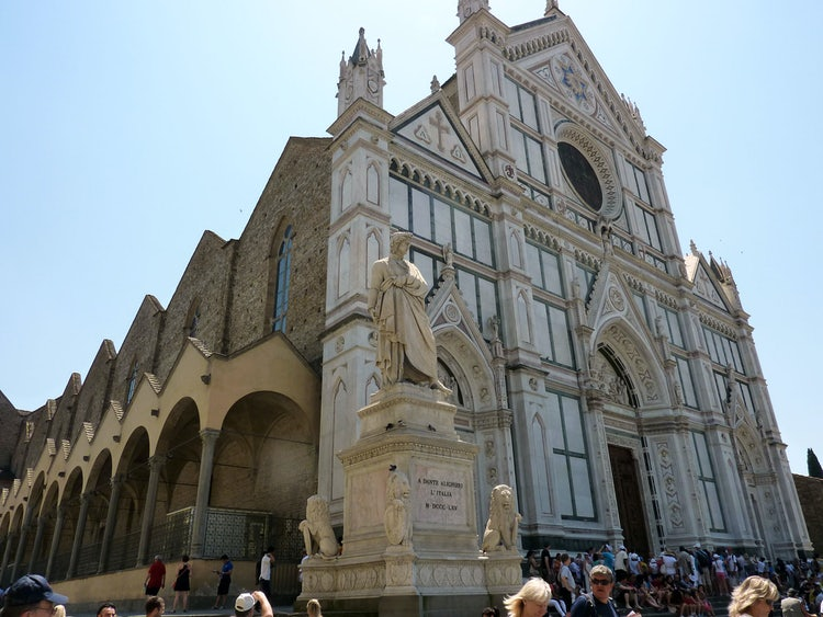 Florence and its beautiful monumental churches like Santa Croce