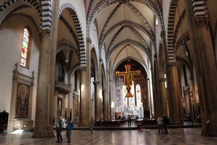 Santa Maria Novella in Florence: internal view