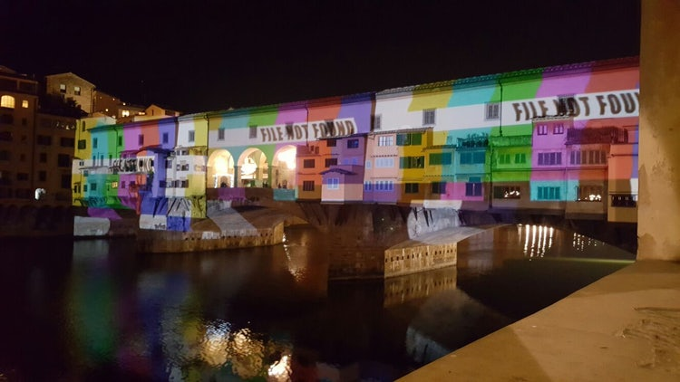 The illumination of Ponte Vecchio for the holidays