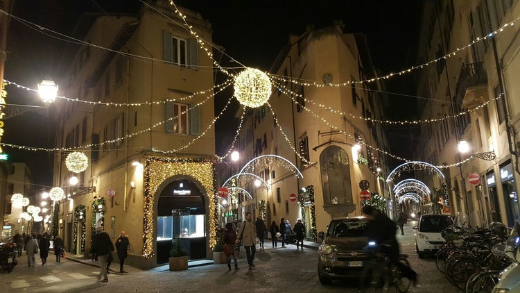 Christmas lights in Florence for the New Years
