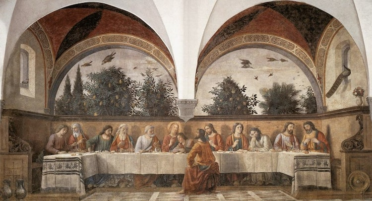 The full image of the Last Supper at Ognissanti