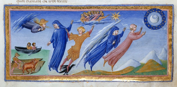 Dante's Divine Comedy as illustrated by Giovanni di Paolo