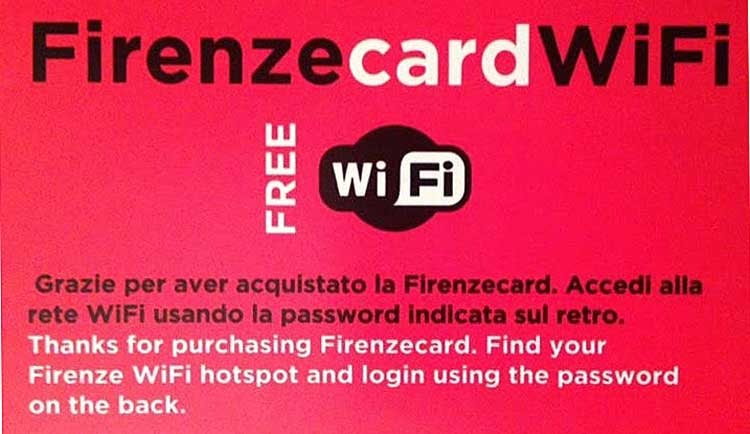 Firenze Card Wi Fi Access
