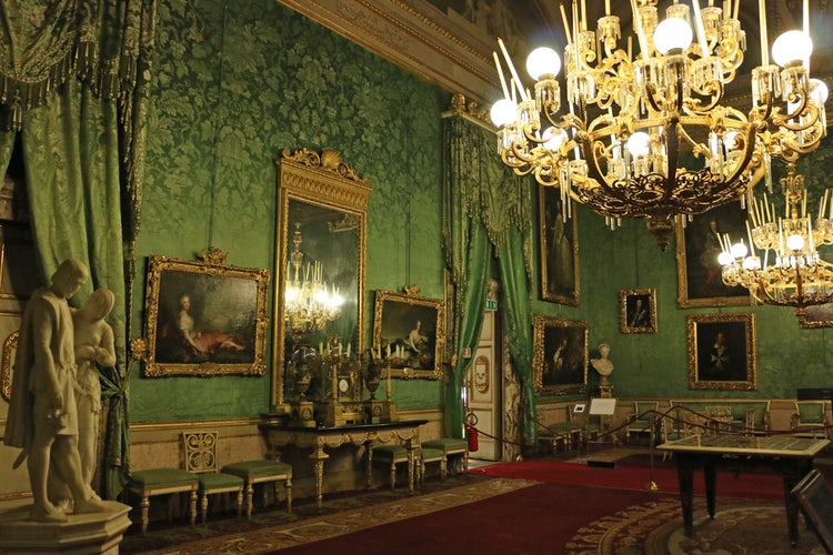 Royal Apartments at Palatine Gallery in Palazzo Pitti