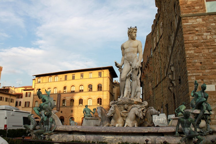Piazza Signoria and its marble statues & fountains