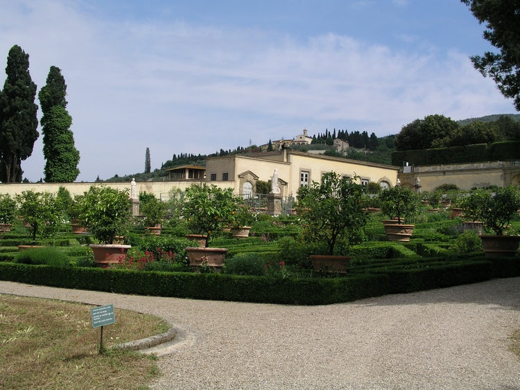 The immense and beautiful gardens at Villa di Castello