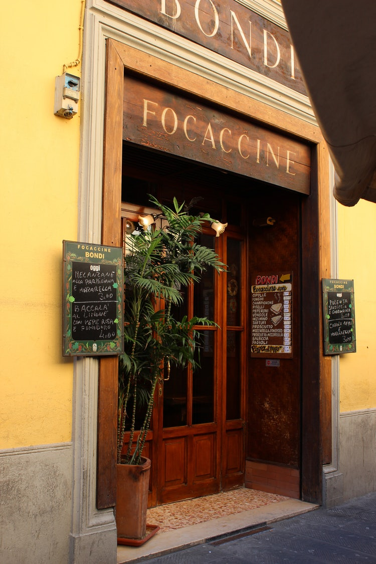 Focaccia in Florence, Tuscany