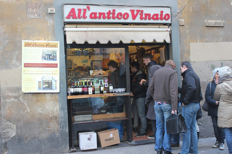 Panino Shop in Florence Tusany