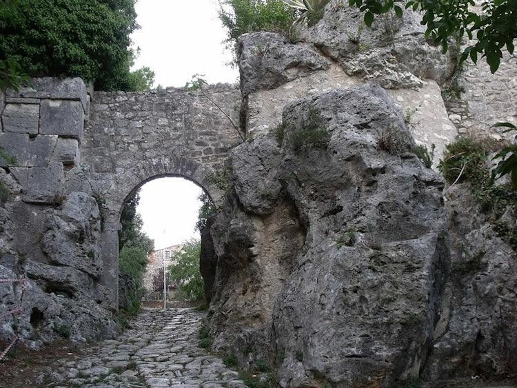 Porta Romana at Saturnia Tuscany Italy