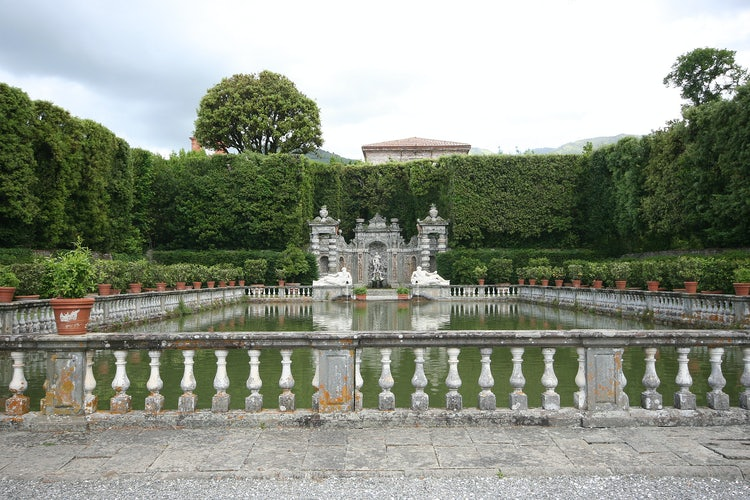 Villa Reale in Marlia, Lucca: The Fishing pond in the Lemon Garden