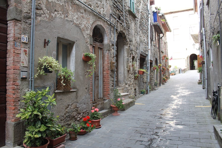 Quaint streets of Virgoletta in the Lunigiana area