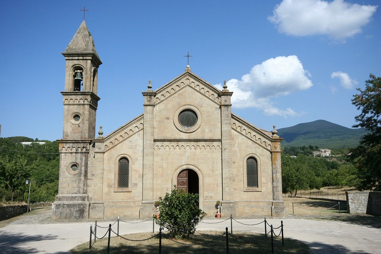 Just outside of Arcidosso is the Pieve Lamula in the Maremma in Tuscany