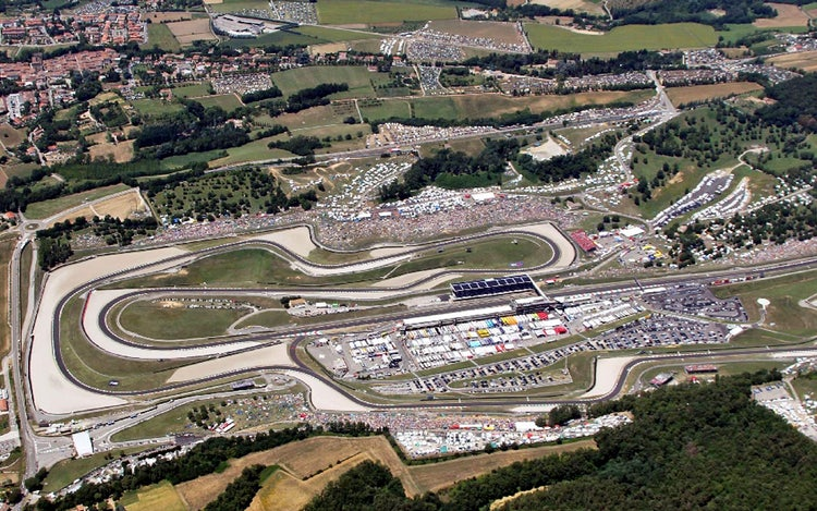 Mugello race circuit - aerial view
