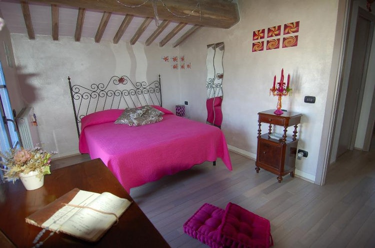Bedroom at La Casina di Cioccolata