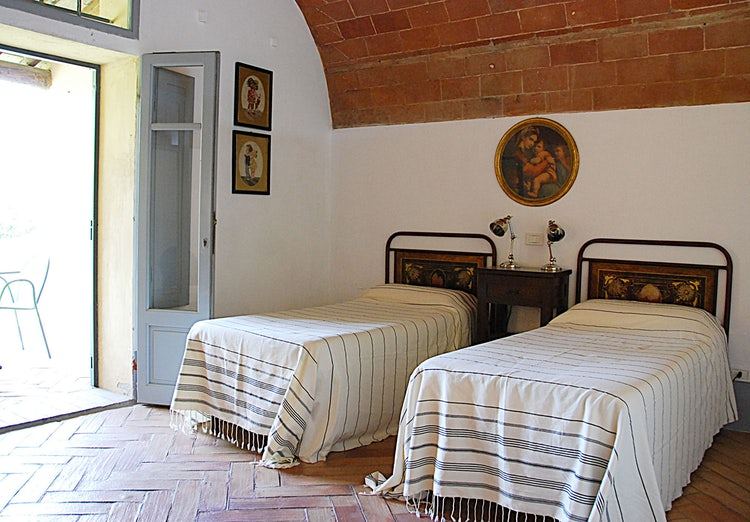 Twin bedroom at Agriturismo Cabbiavoli