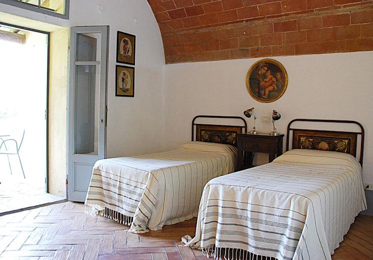 Twin bedroom at Agriturismo Cabbiavoli