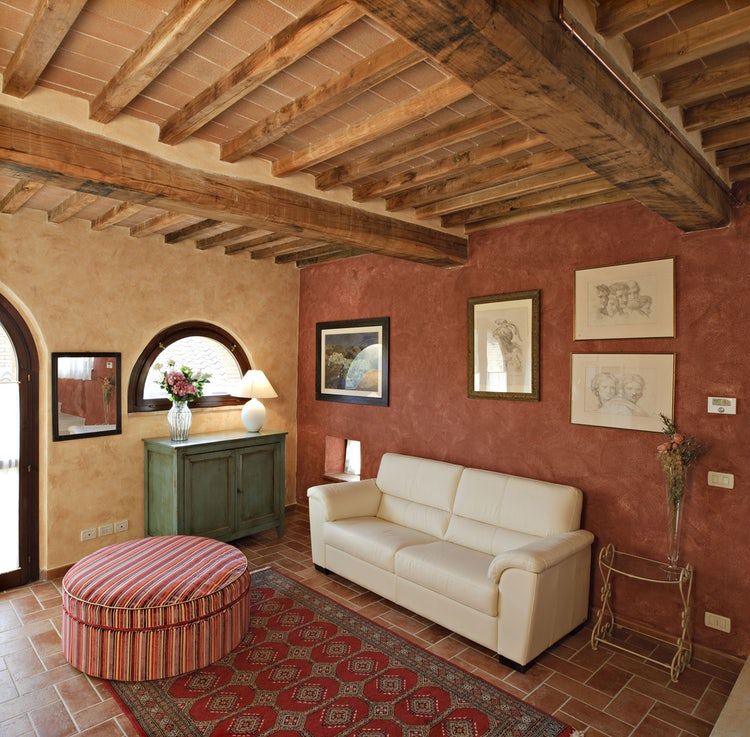 Living room at La Roccaia