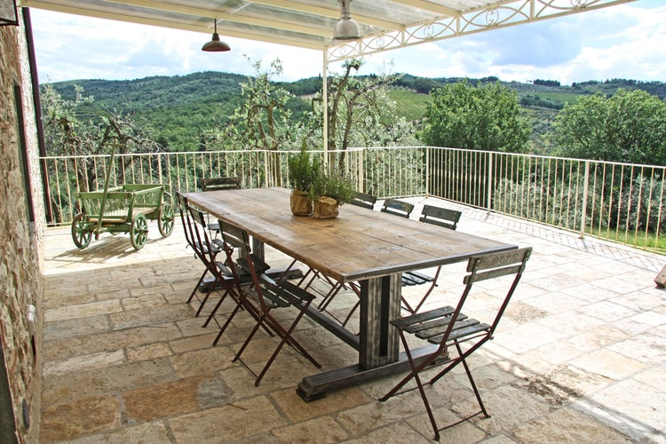 BBQ and Terrace at Agriturismo Vicolabate close to Florence