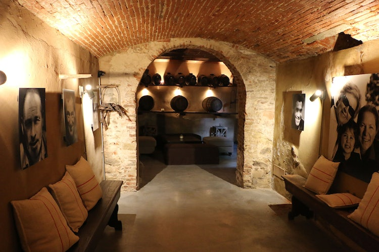 Guest wine cellar at B&B Villa Dianella near Florence Italy