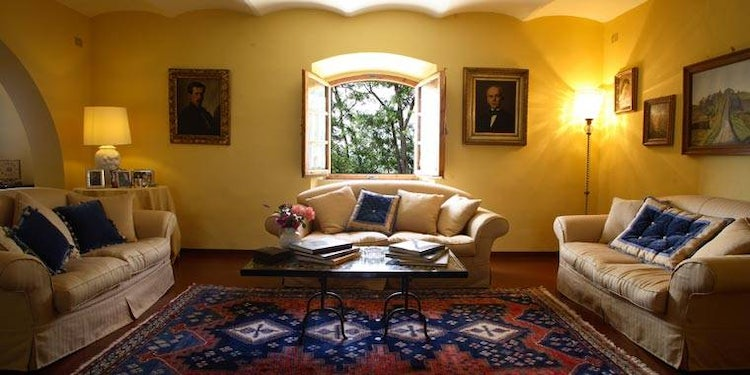 Living room at Villa Piaggia