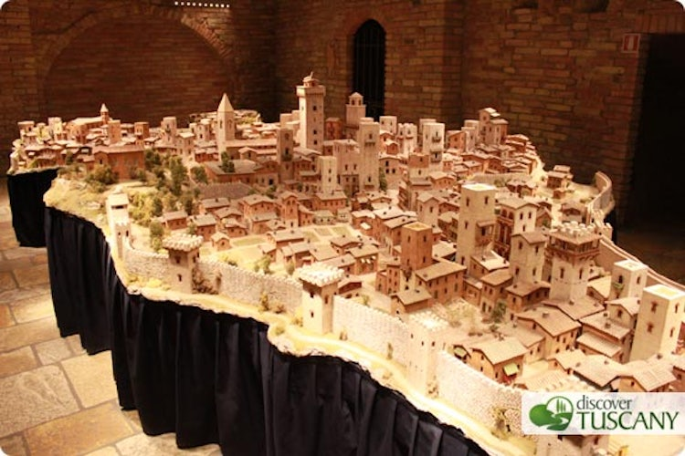 Reconstruction of San Gimignano in the year 1300