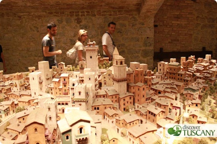 Ceramic reconstruction of the medieval city of San Gimignano