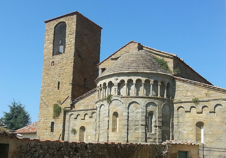 The back of the Pieve of Gropina in Valdarno