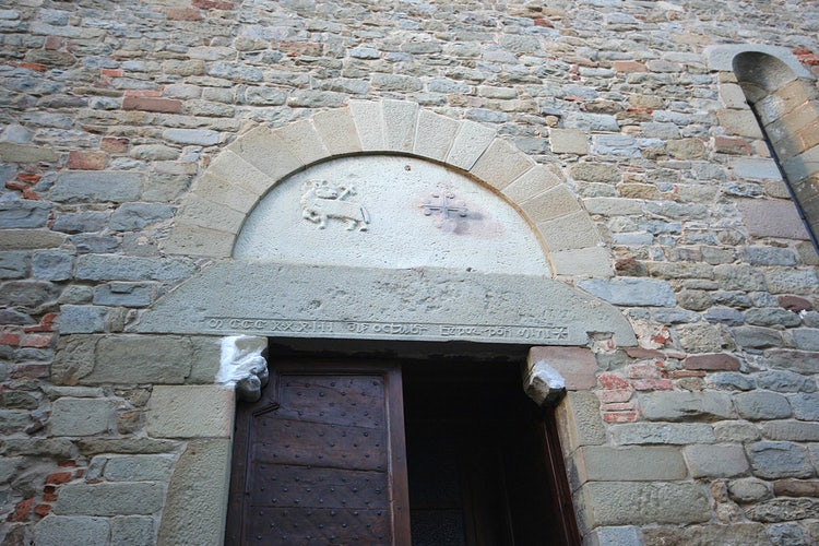 Detail of historic church at Loro Ciuffenna