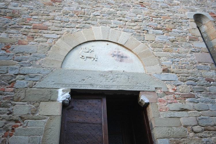 Detail of historic church at Loro Ciuffenna