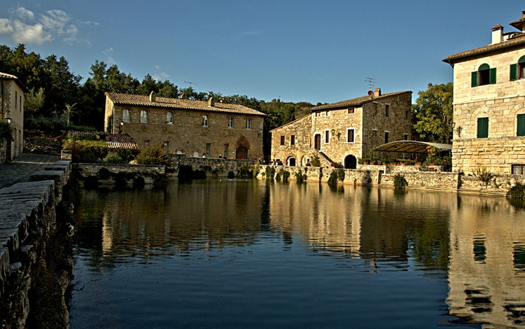 Le terme di Bagno Vignoni, a sud di Siena