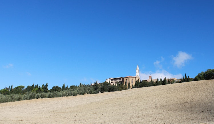 Pienza skyline in Val d'Orcia Tuscany