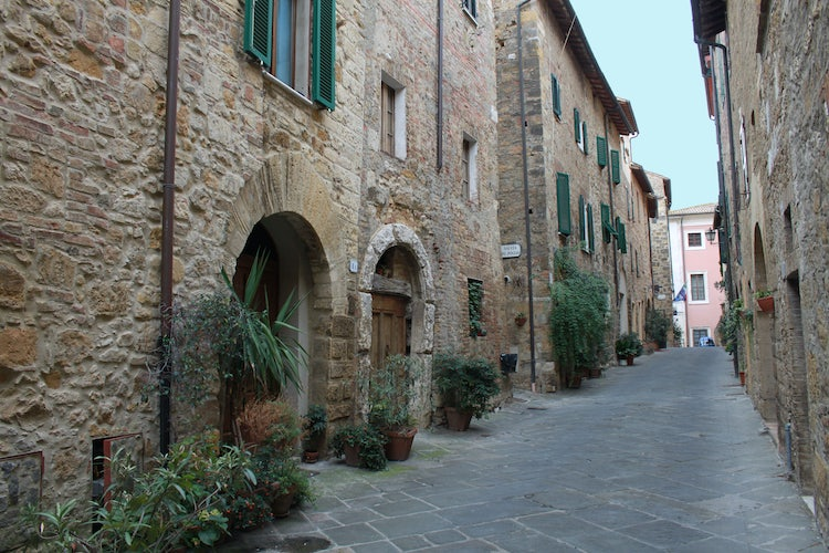 City streets of San Quirico